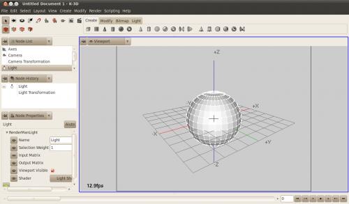 K3d programma per progettare animazioni di qualit for Miglior programma grafica 3d