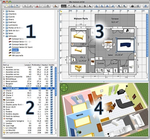 Sweet home 3d programma open source per la progettazione d for Programma per disegnare interni