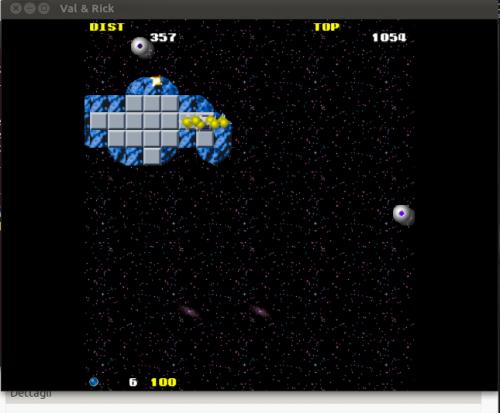 val-and-rick sparatutto in 2D,grafica 2D sparatutto,gioco per linux in 2D