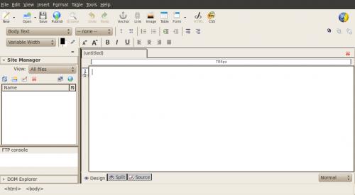 Kompozer semplice programma per disegnare le tue pagine for Programma per disegnare arredamento