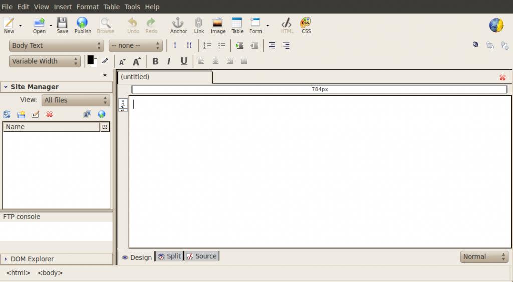 Kompozer semplice programma per disegnare le tue pagine for Programma per disegnare le planimetrie gratuitamente